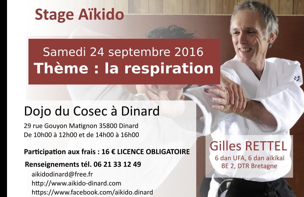 Stage aïkido Dinard 24 septembre 2016