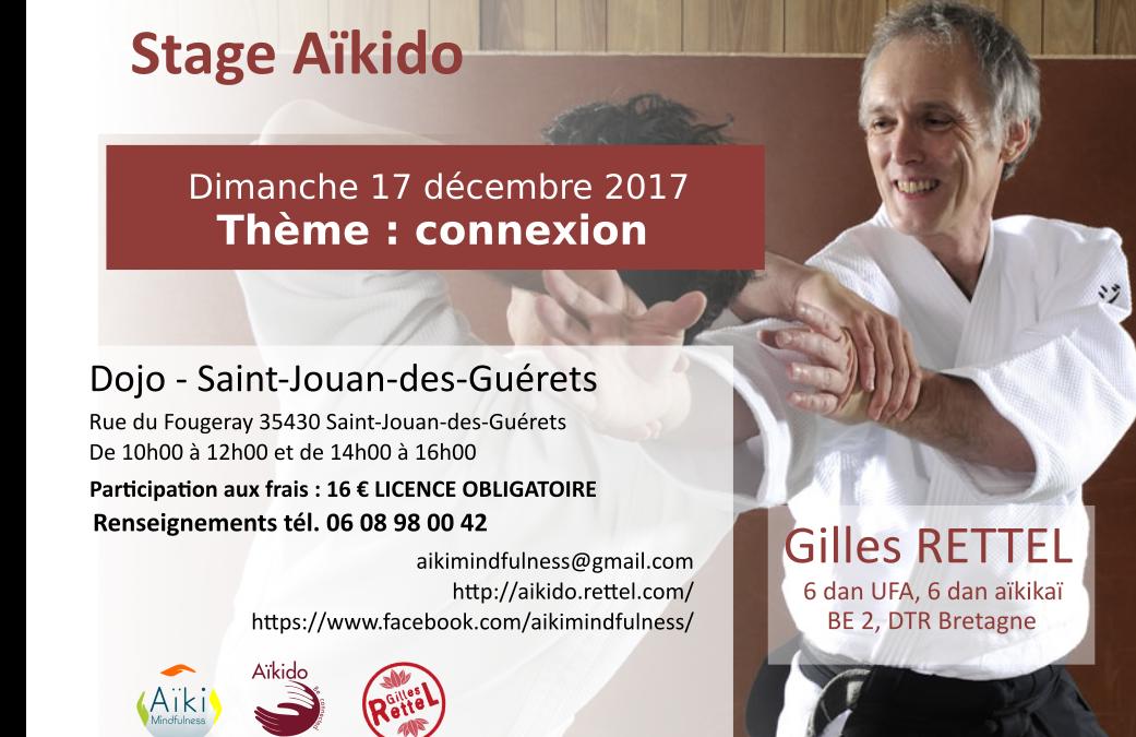 Stage aïkido Saint-Jouan-des-Guérets 17 décembre 2017
